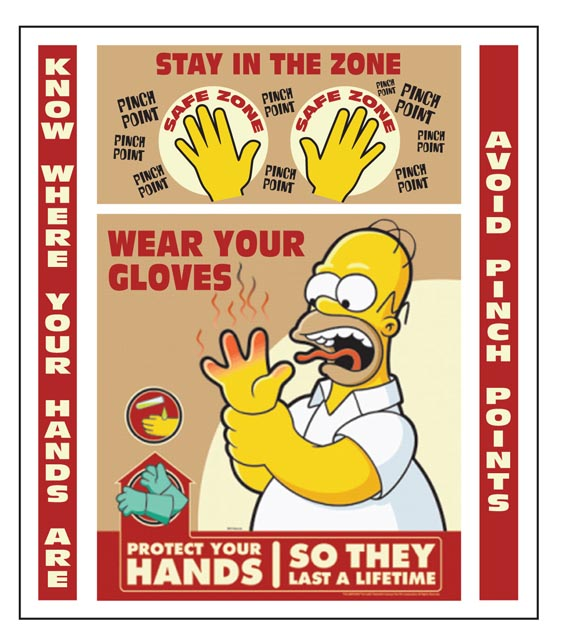 Mcknight design illustration simpson style character for 6 kitchen safety basics