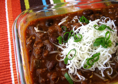 This hearty, smoky chili has become my go-to recipe for a weeknight chili. I love the extra flavor BBQ sauce adds!