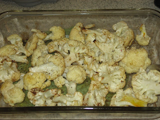 Saffron roasted cauliflower, adapted from Chocolate and Zucchini