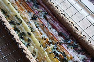 Rainbow Chard Tart from Allotment 2 Kitchen