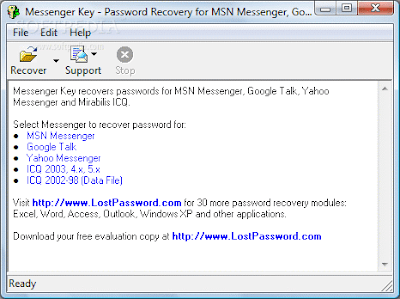 Detector-YM: Passwords Recovery for Yahoo Messengers ICQ, MSN