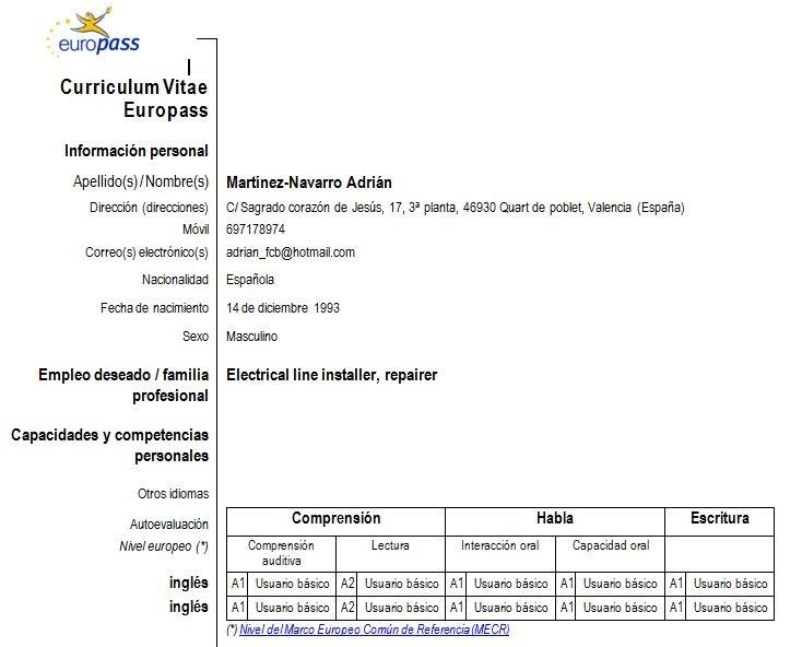 Cv Europass Ro  Cv Example Of A Graduate