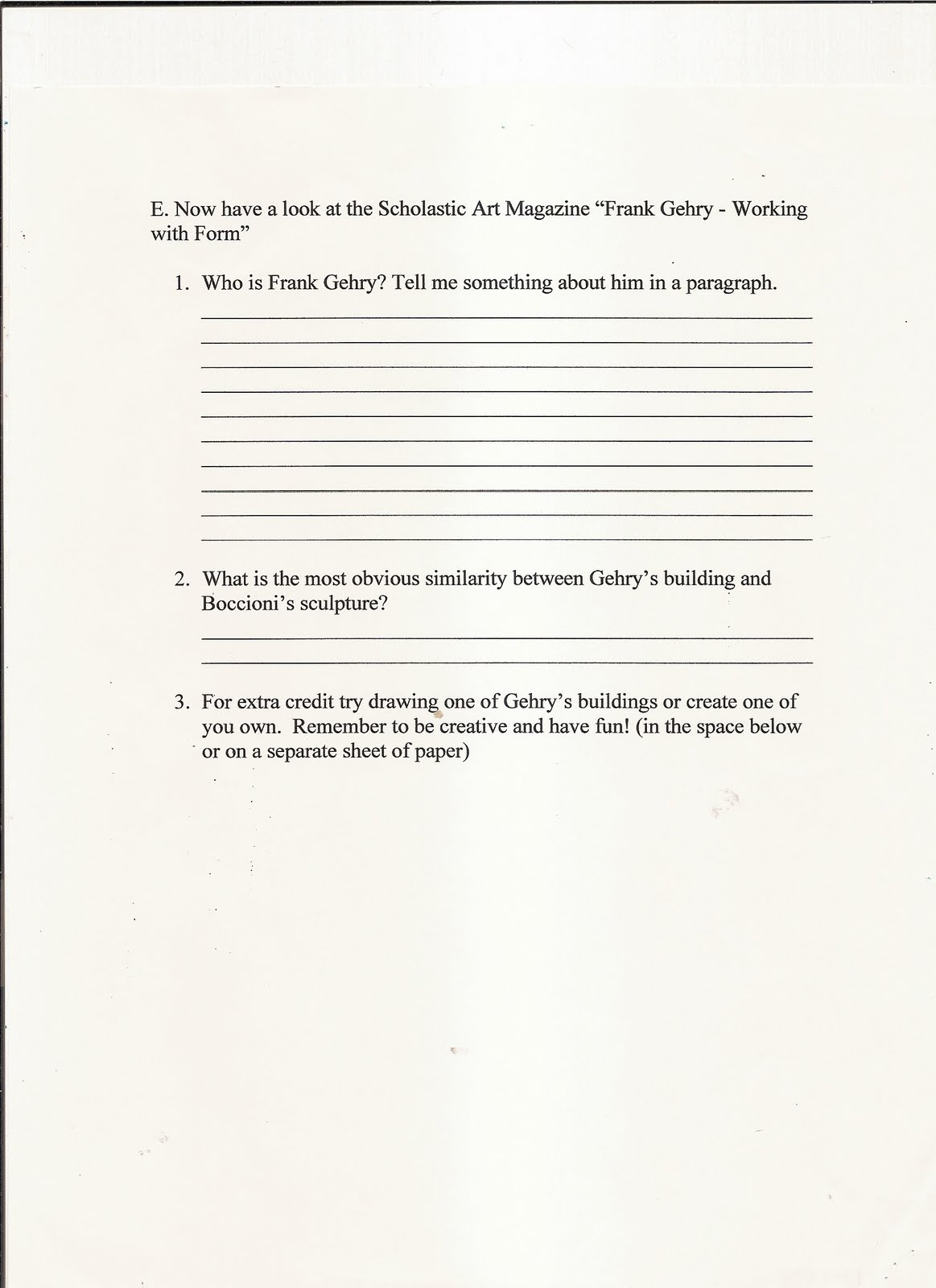 Handouts And Worksheets Form Handout 4