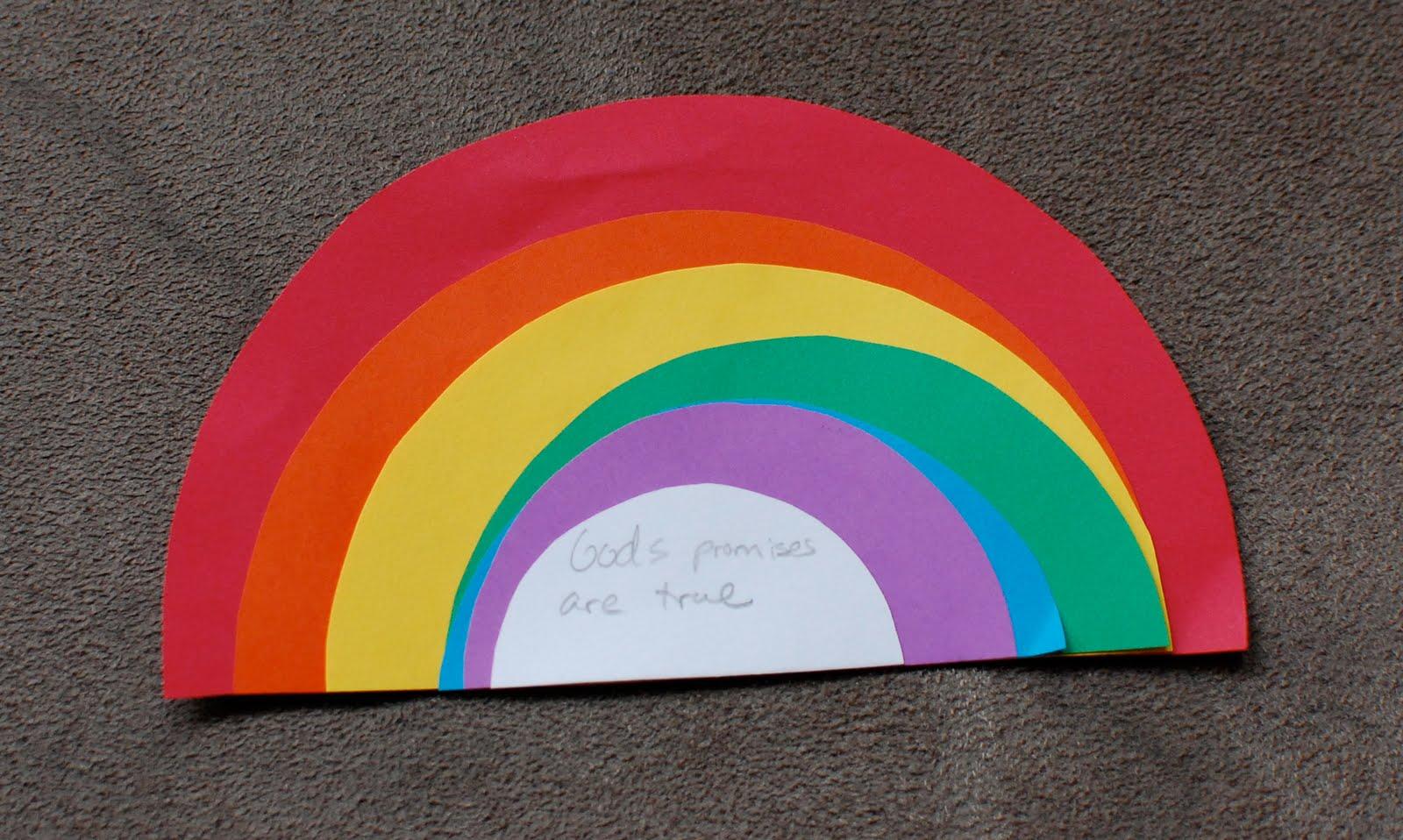 God S Promise Rainbow Craft
