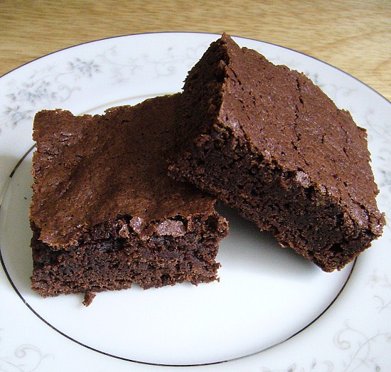 Rich Chocolate Brownies with cocoa.