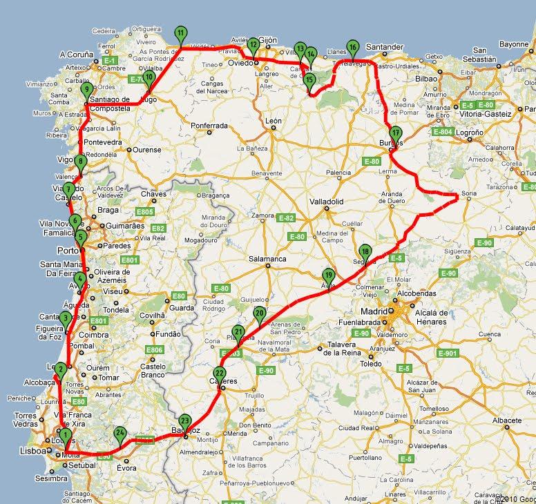 mapa picos da europa espanha Até aos Picos da Europa: Mapa do itinerário mapa picos da europa espanha