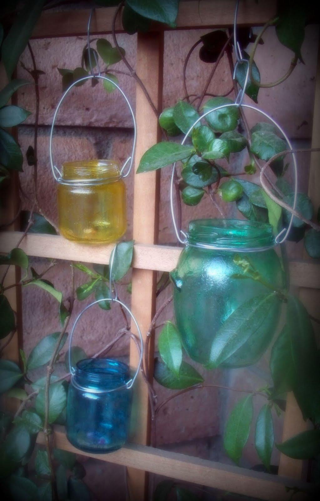 Kreative Knack Recycled Painted Jar Lanterns
