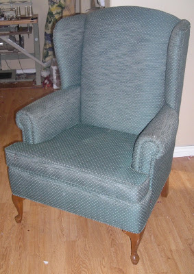 Slipcovers For Wingback Chairs With T Cushion Football Helmet Chair Custom By Shelley: Paisley Before And After