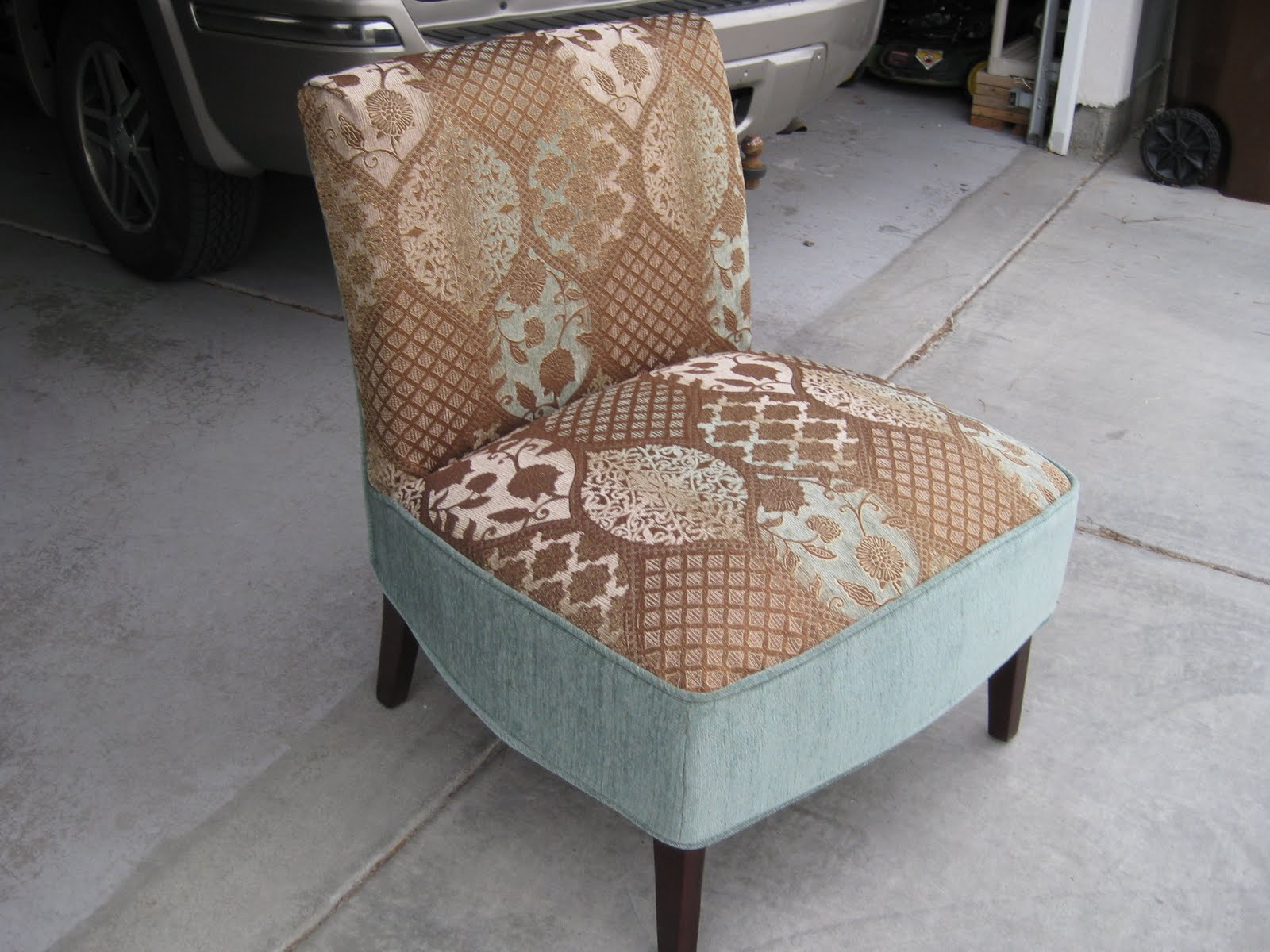 Slipcover For Armless Slipper Chair Posture Pad Custom Slipcovers By Shelley