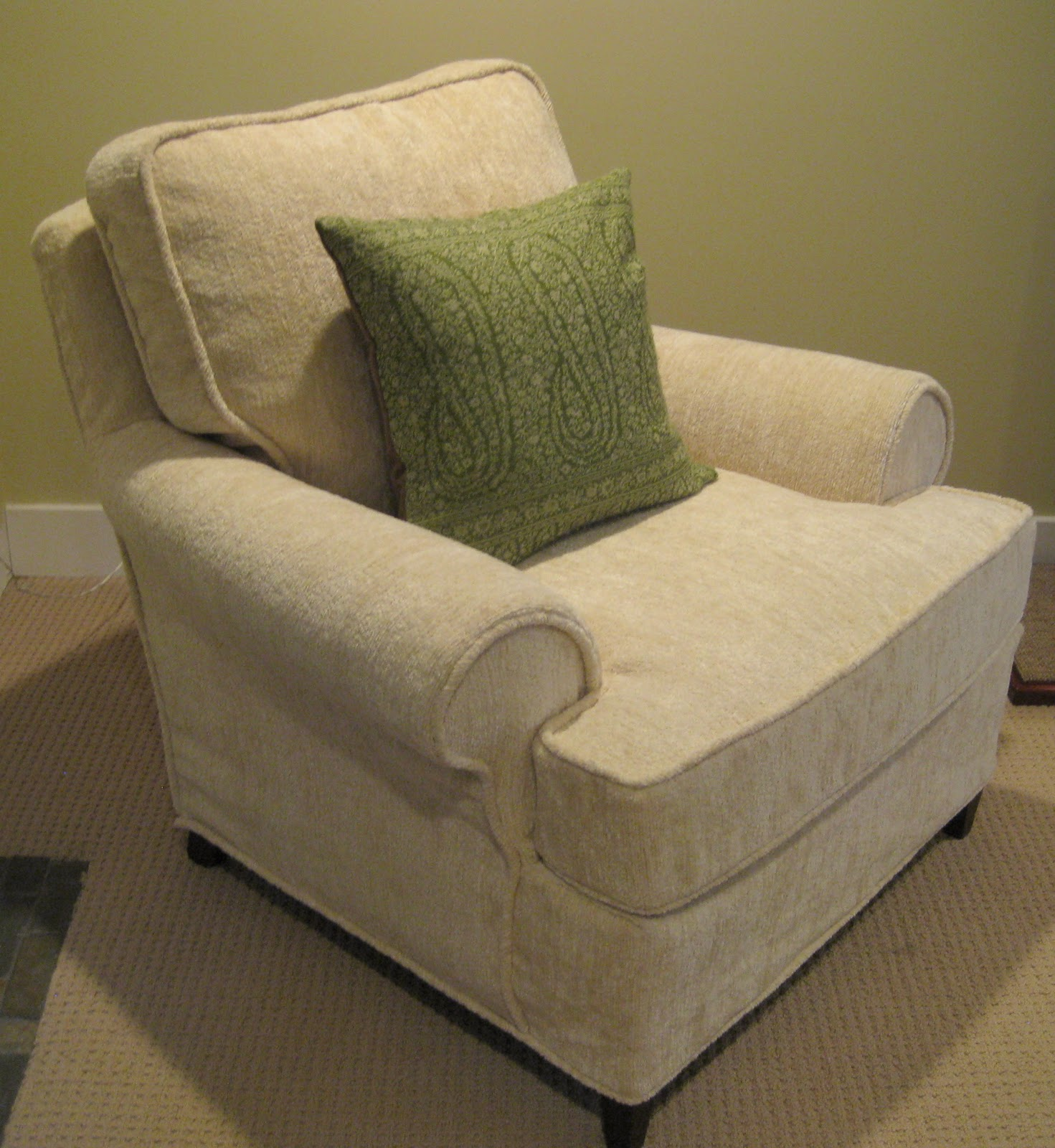 barrel chair cushions banquet covers on craigslist custom slipcovers by shelley club