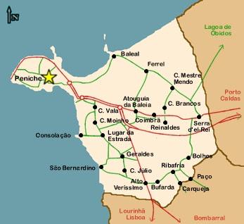 mapa concelho peniche Amigos de Peniche: 30000 Visitas mapa concelho peniche