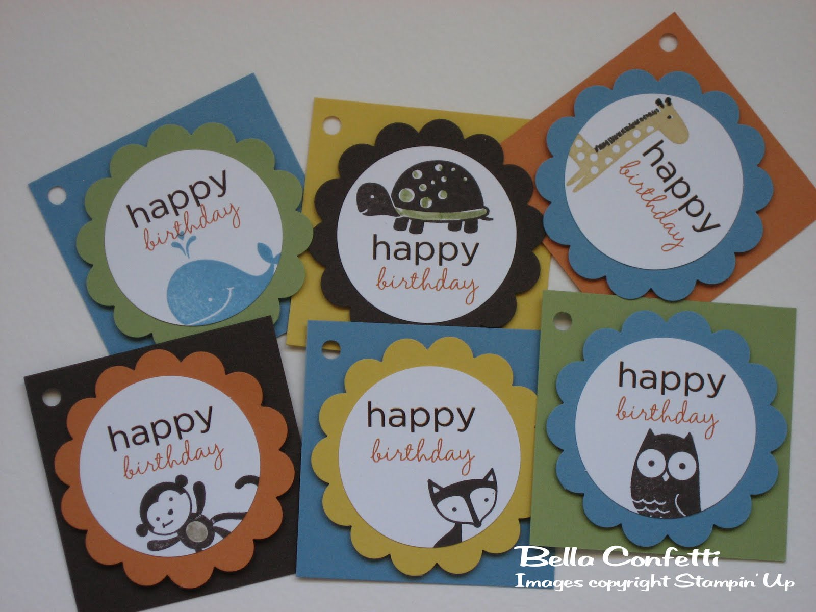 Birthday Tags: Bella Confetti: Children's Birthday Gift Tags