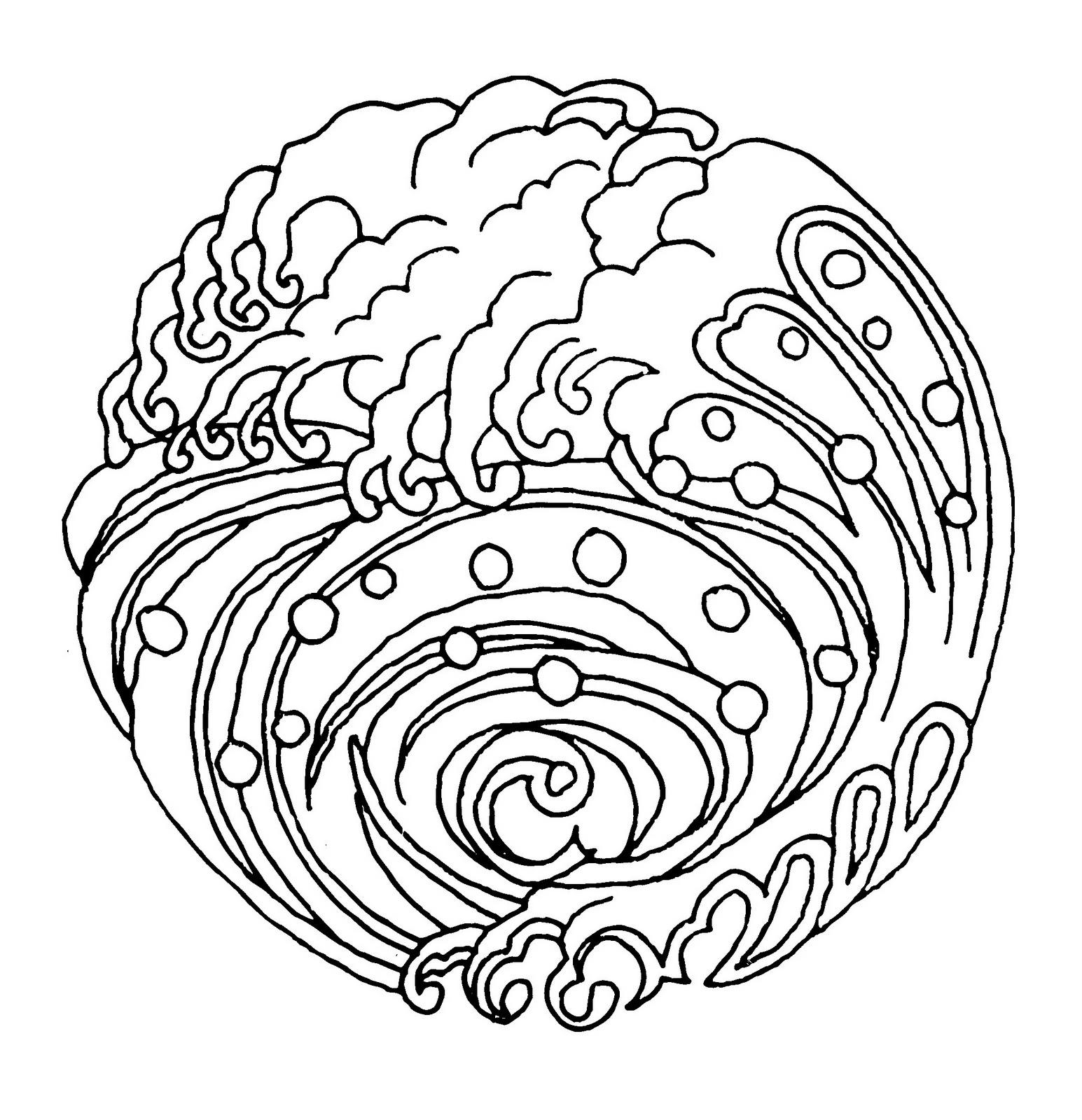 ocean mandalas coloring pages - photo #5
