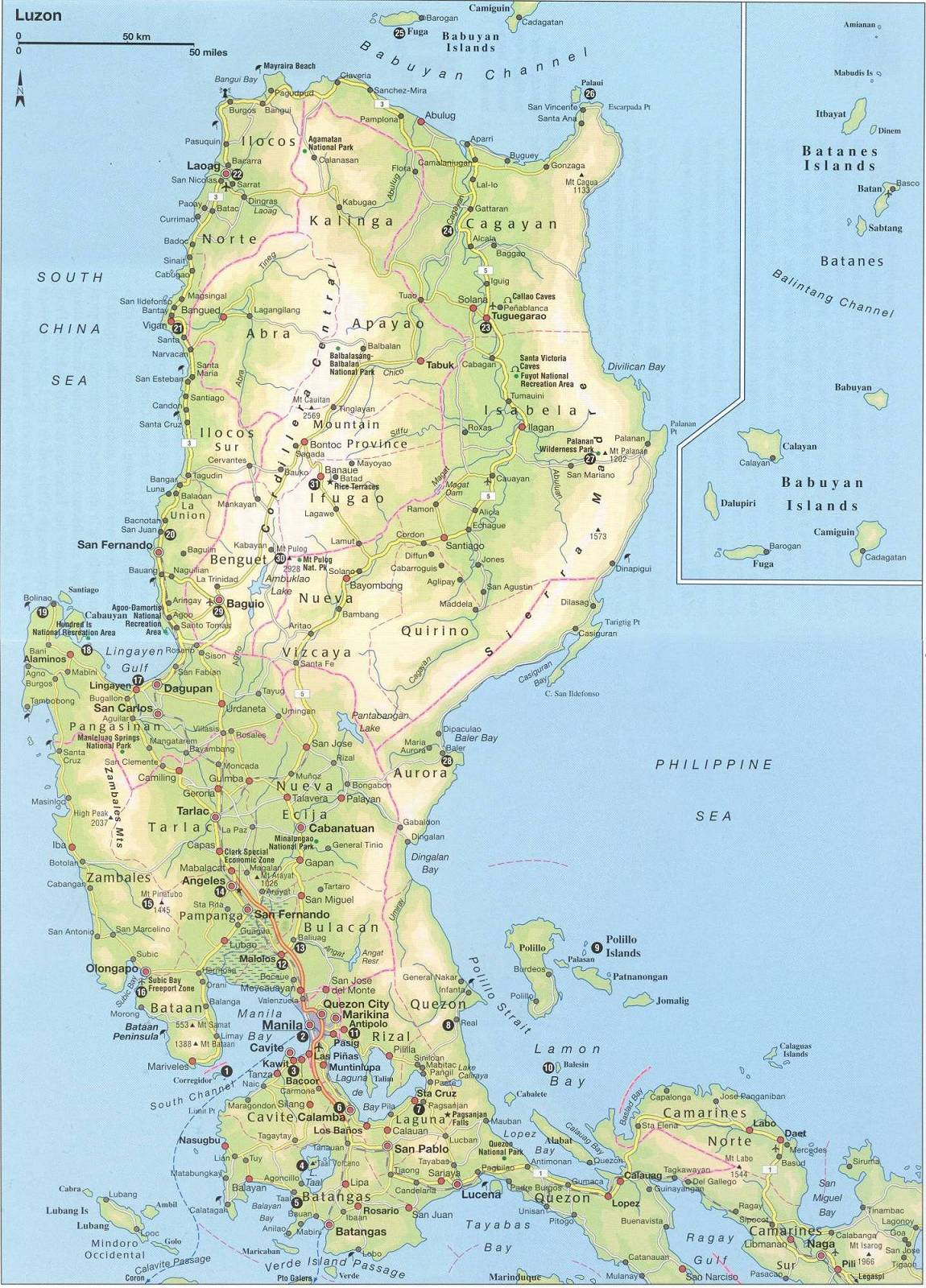 maps of luzon