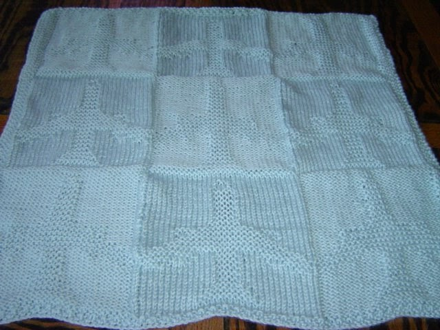 Veronica S Knitting Projects Reversable Airplane Baby Blanket