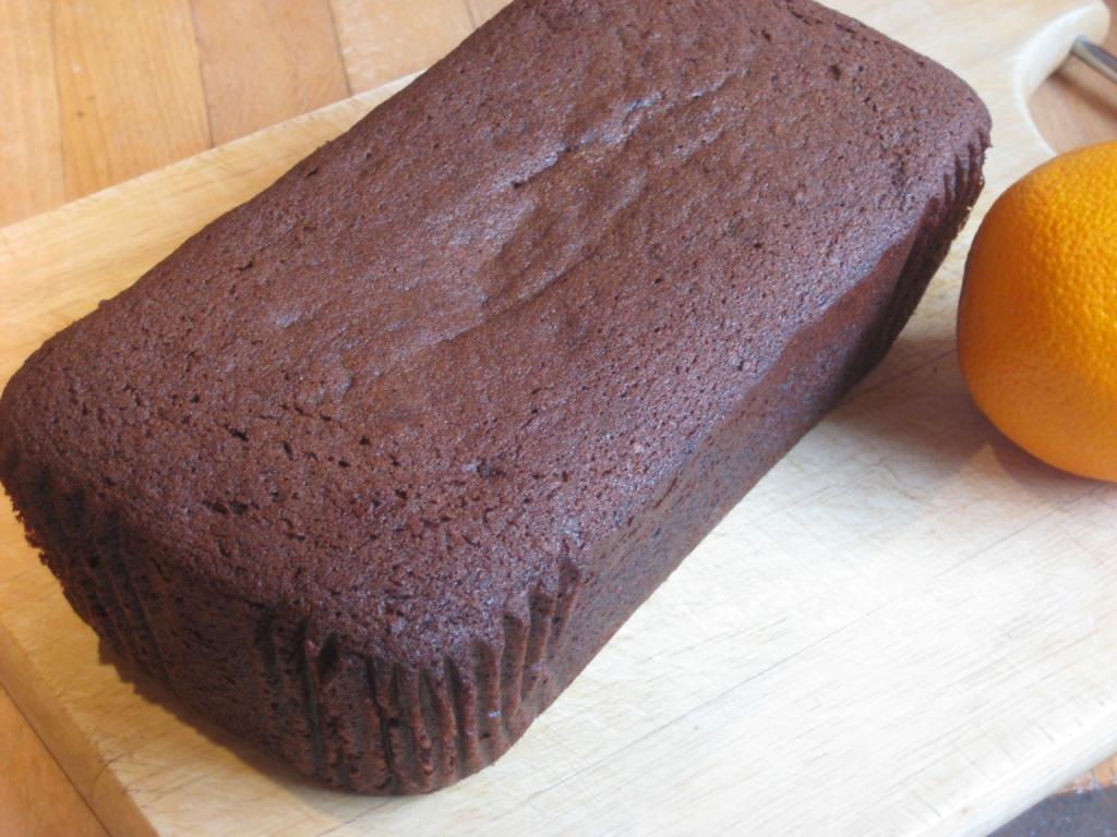 Chocolate Sponge Cake In Loaf Tin