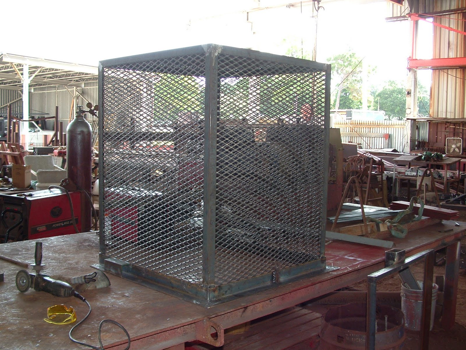 Air Conditioner Cage 2005 F150 4x4 Wiring Diagram Orange State Steel Construction Inc Protective Metal Cages