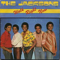 The Jacksons U.K. single Walk Right Now