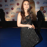 Preity Zinta in Black Saree at Drona Premiere