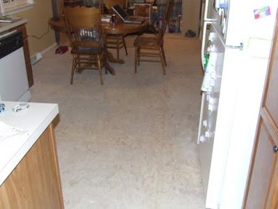Kitchen Vinyl Floor Design With White Cabinets