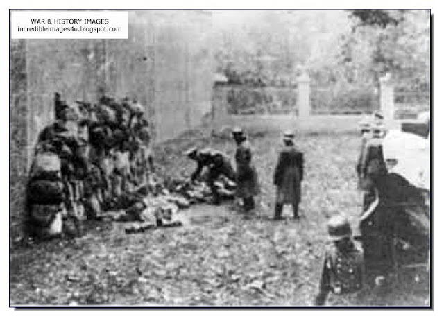 stacking dead bodies Einsatzgruppen Nazi Killing Squads