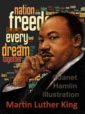 Janet Hamlin Illustration A new Martin Luther King, Jr poster