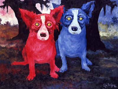 Musings Of An Artist S Wife Blue Dog The Ghost Of