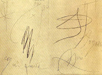 Dibujo de Joan Miró dedicado a Pío Muriedas
