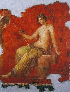 Baco - Fresco romano del siglo II d.C.