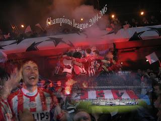 PSV wallpaper met fotos van de Championsleague