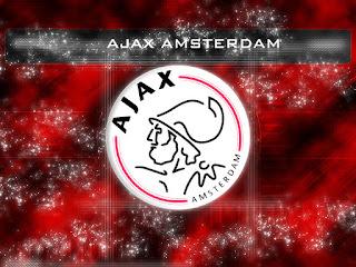 Rode Ajax achtergrond met logo