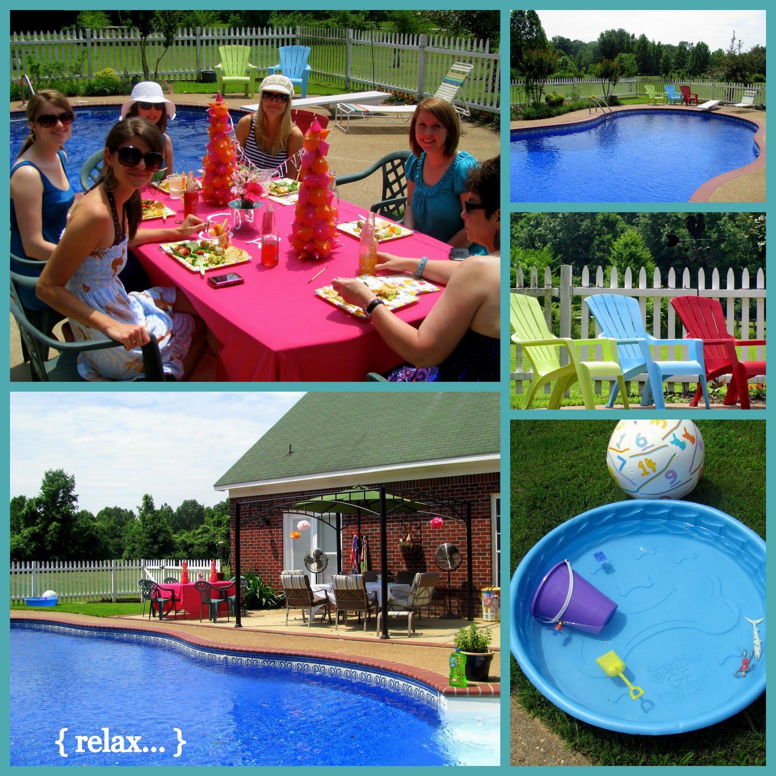 Baby shower en la piscina for Decoracion para piscinas