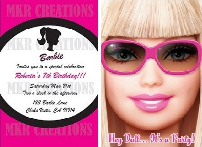 Tarjetas De Barbie Para Imprimir Imagui