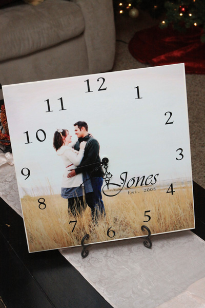 Picture Clock | Homemade Christmas Gifts Men Will Actually Love