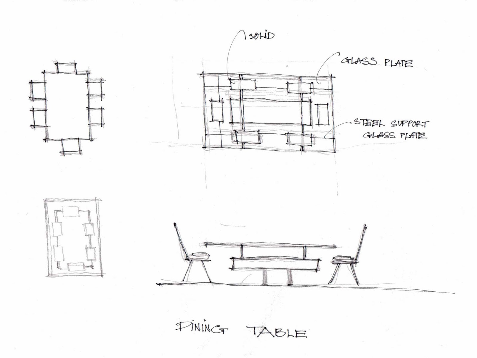 Woodworking Plans Dining Table Plan Elevation Section PDF ...