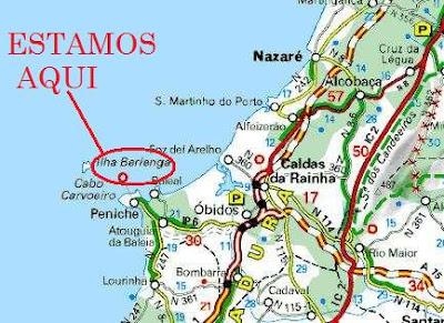 ilhas berlengas mapa ISCSP, Nálgas de Carneiro e outras coisas: Fomos de férias 'pás  ilhas berlengas mapa