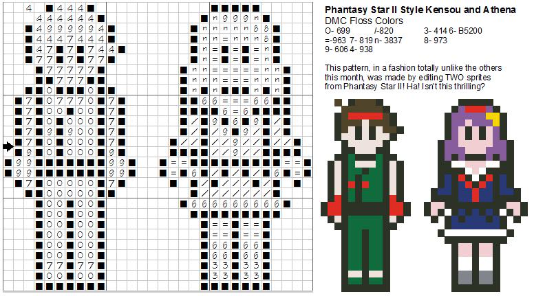 Dork Stitch: Sprite Patterns December Day 7: I Did Manage To Hold