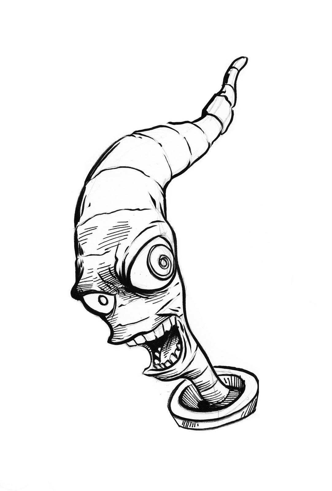 Pretty Good Blog Warm Up Sketch Earthworm Jim