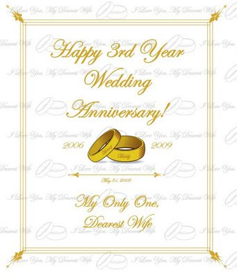 Sorsoguenews Card For My Wife On Our 3rd Wedding Anniversary
