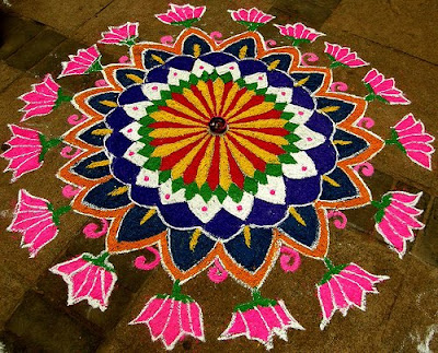 Artistic Rangoli Designs Flower Patterns Festival Rangoli
