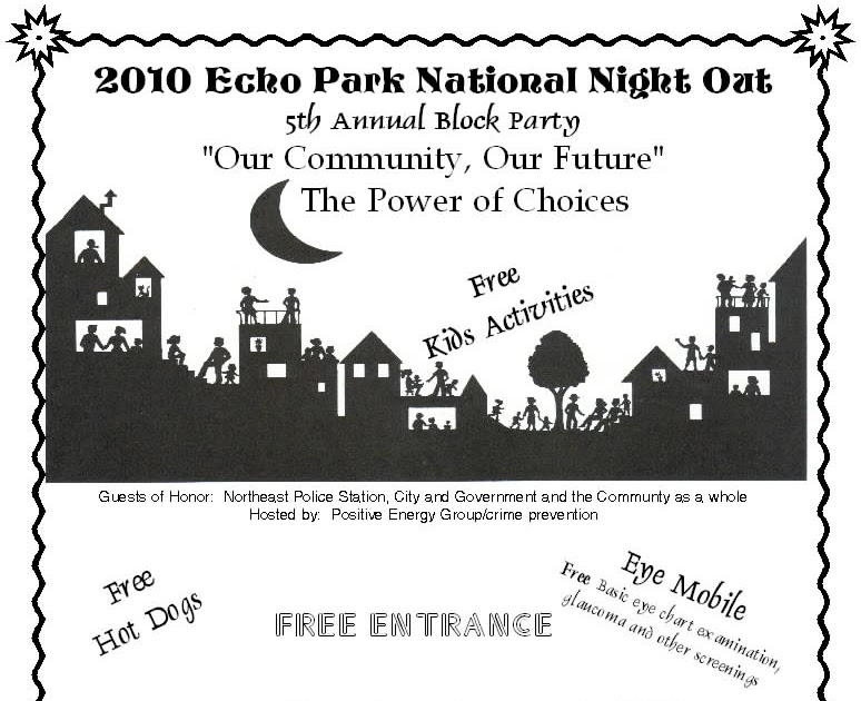 ECHO PARK NATIONAL NIGHT OUT: 2010 The Echo Park National