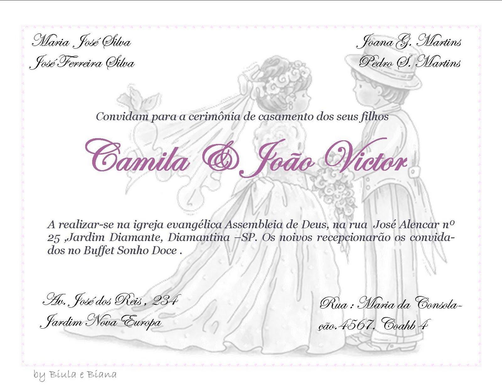 Frases Para Convite De Noivado Evangelico: SONHO DOCE ART: Modelo De Convite Casamento
