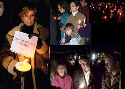candlelight vigil demonstration, Saturday, March 25, 2006