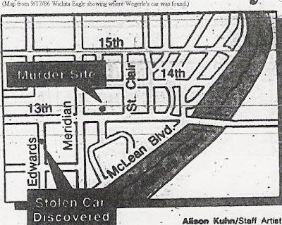 Map of where Wegerle car was found after murder