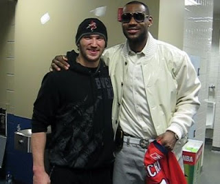 Alex Ovechkin meets LeBron James