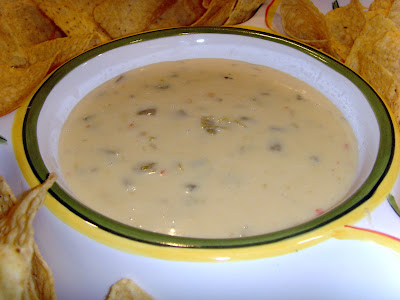 A close-up of queso blanco dip