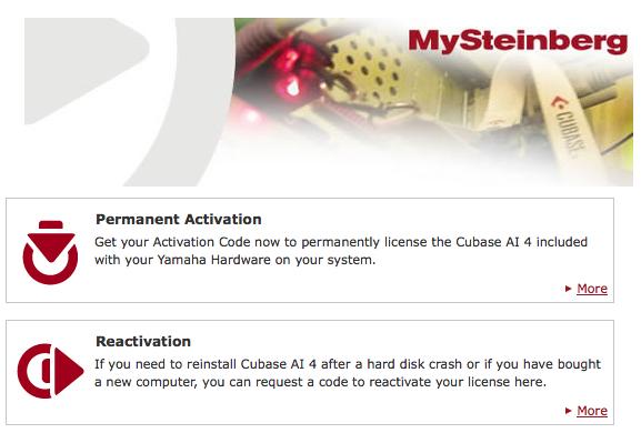 The Cubase Ninja Blog: Cubase AI Registration