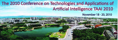 2010 15th TAAI 人工智慧與應用研討會論文徵稿