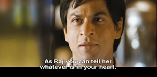 As Raj you can tell her what's in your heart