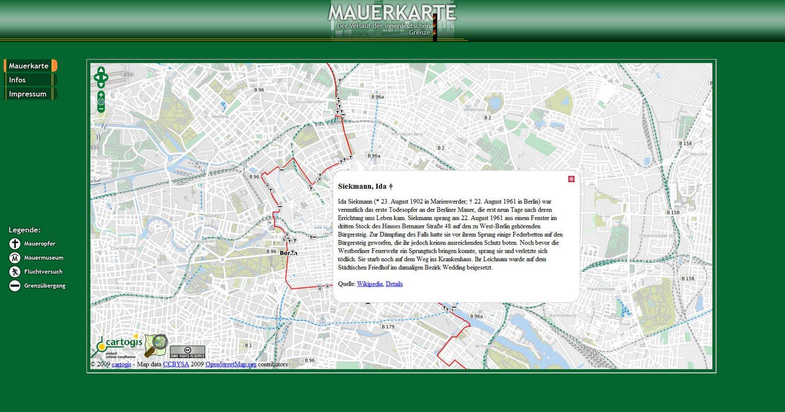 Verlauf Ddr Grenze Karte.Landkartenblog Entdecken Sie Die Innerdeutsche Grenze Und